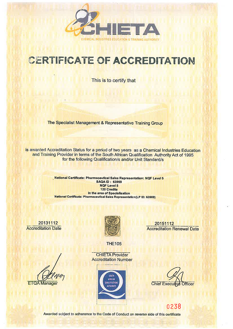 SMART CHIETA accreditation 2013